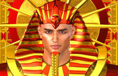 Egyptian Pharaoh Ramses. A modern digital art version of the ancient Egyptian king. — Stock Photo