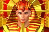 Egyptian Pharaoh Ramses. A modern digital art version of the ancient Egyptian king. — Stock Photo