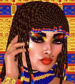 Cleopatra or any Egyptian Woman Pharaoh, Modern digital art fantasy. — Stock Photo