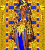 Cleopatra or any Egyptian Woman Pharaoh. — Stock Photo