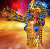 Egyptian Magic!  This Powerful female anointed herself Pharaoh of Egypt. — Stock Photo