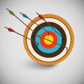 Arrow missing bullseye — Stock Vector