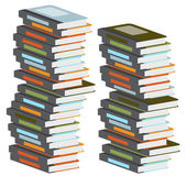 Stacks of colorful books — Stock Vector