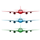Planes in front view — Stockvector