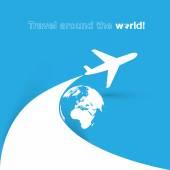 Travel around the world icon — Stock Vector