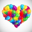Heart shaped balloons illustration — Stock Vector #60817287