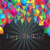 Happy Birthday illustration — Stock Vector