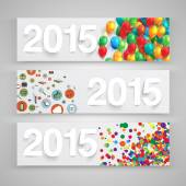 2015 paper signs — Vector de stock