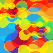 Colorful curvy forms background — Cтоковый вектор