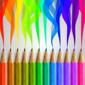 Composition with colorful pencils — Vetorial Stock