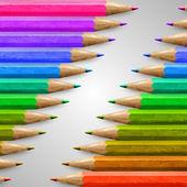 Composition with colorful pencils — Vetor de Stock