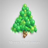 Christmas tree from balloons — Stock Vector
