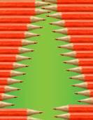 Christmas tree silhouette — Stock Vector