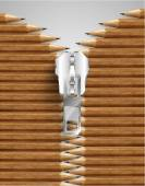Zipper with simple pencils — Vetorial Stock