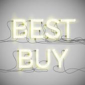 """Best Buy"" made by neon type — Stock Vector"