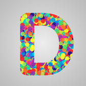 Colorful letter made by circles — Stock Vector