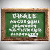 Chalk typeset on a chalkboard — Stock Vector