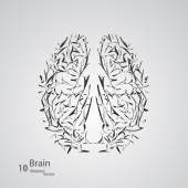 Creative concept of the human brain — Stock Vector