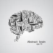 Circuit board brain eps 10 — Vecteur