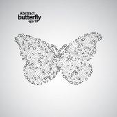 Circuit board butterfly eps 10 — Stockvektor