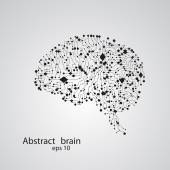 Circuit board brain eps 10 — Stock Vector