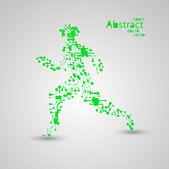Sport circuit board running man eps10 — Vector de stock