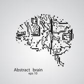 Circuit board brain eps 10 — Stockvector
