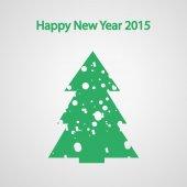 Weihnachten-Tannenbaum mit Schnee — Stockvektor