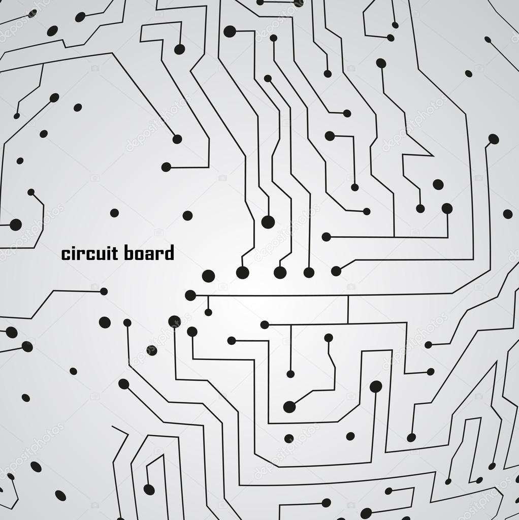 电路板背景 eps 10,矢量图– 图库插图