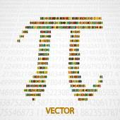 Pi Numbers shape — Stock Vector