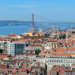 View of Lisbon from the top of Rua Augusta Arch, Portugal — Stock Photo #51970291