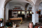 SINTRA, PORTUGAL -  the kitchen at the Pena National Palace, Sin — Stock Photo