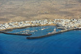 Caleta de Sebo town on Graciosa Island, Canary Islands, Spain — Stock fotografie