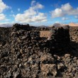 Volcanic mountains at Lanzarote Island, Canary Islands, Spain — Stock Photo #66825365