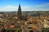 Old part of Toledo and Cathedral, Spain — Stock Photo
