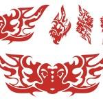 Flaming eagle symbols — Stock Vector #55168395