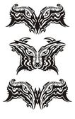 Eyes symbols in tribal style — Stock Vector