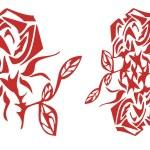 Red rose symbol — Stock Vector #66064429