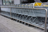 Shopping cart. shopping trolley, shopping, business — Stock Photo