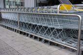 Shopping cart. shopping trolley, shopping, business — Stock Photo