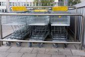 Carro de compras. carro, compras, negocios — Foto de Stock