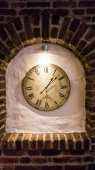 Wall clock. old stylish clock. time is money — 图库照片
