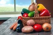 корзины с овощами — Стоковое фото