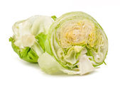 Iceberg lettuce isolated — Stock Photo