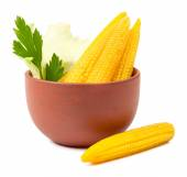 Small pickled corn isolated — Stock Photo
