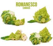 Romanesco cabbage set of four tracks isolated  — Stock Photo