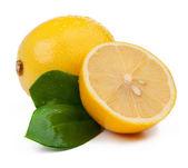 Lemons and slice isolated — Stock Photo
