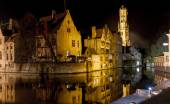 Romantic Bruges by Night — Stock Photo