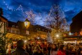 Crowds at Colmar Christmas Market — Stock Photo