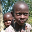Two black African tribe maasai children, siblings. — Stock Photo #65007677